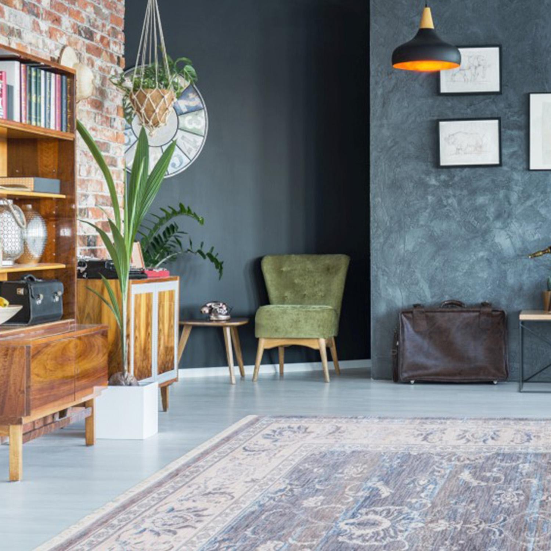 Vloerkleed Lalee Home Vintage 700 Grey | 80 x 150 cm