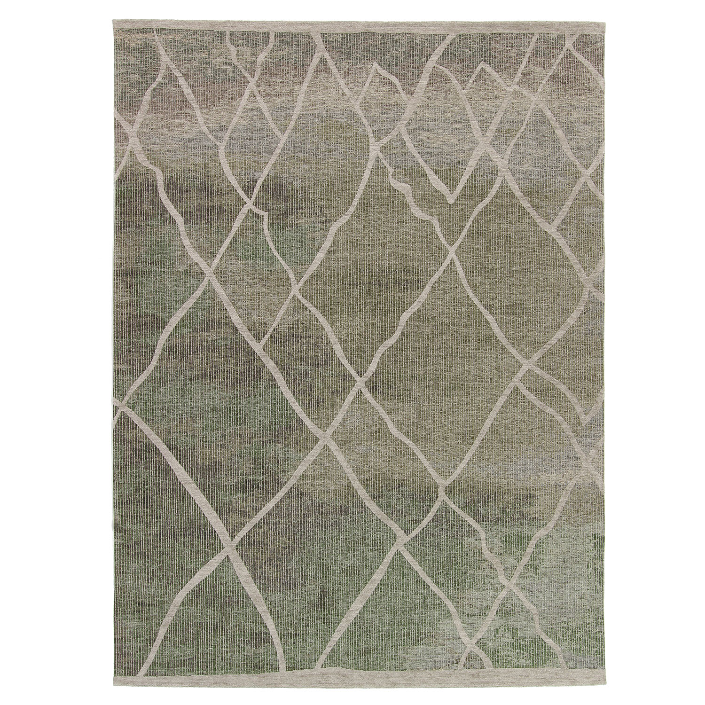 Vloerkleed Brinker Rabat Green Taupe | 240 x 340 cm
