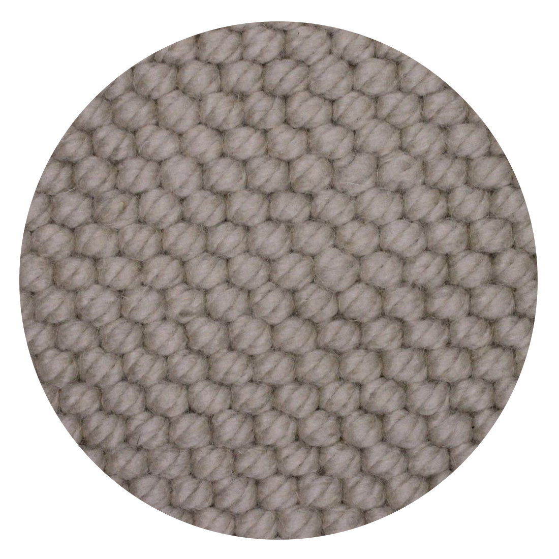 Rond Vloerkleed Nevada Beige 100 % New Zealand Wool