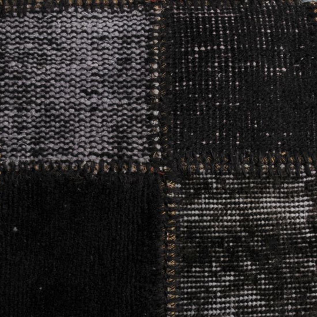 Vintage Vloerkleed Antique Handgeknoopt Black