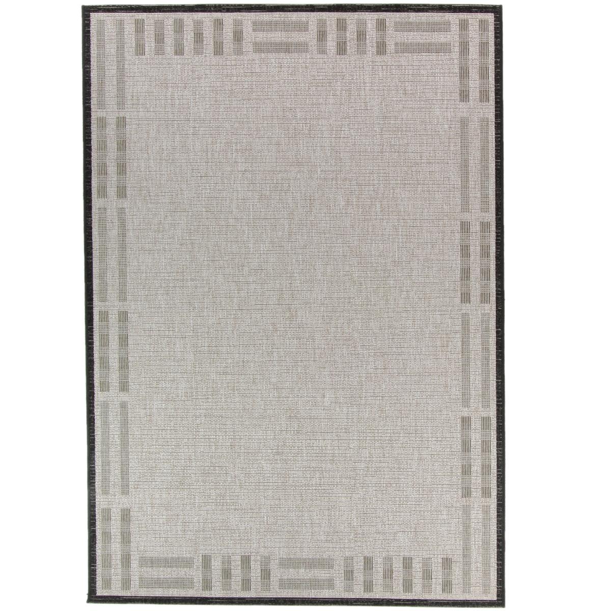 Vloerkleed Brinker Billies Silver Black | 160 x 230 cm