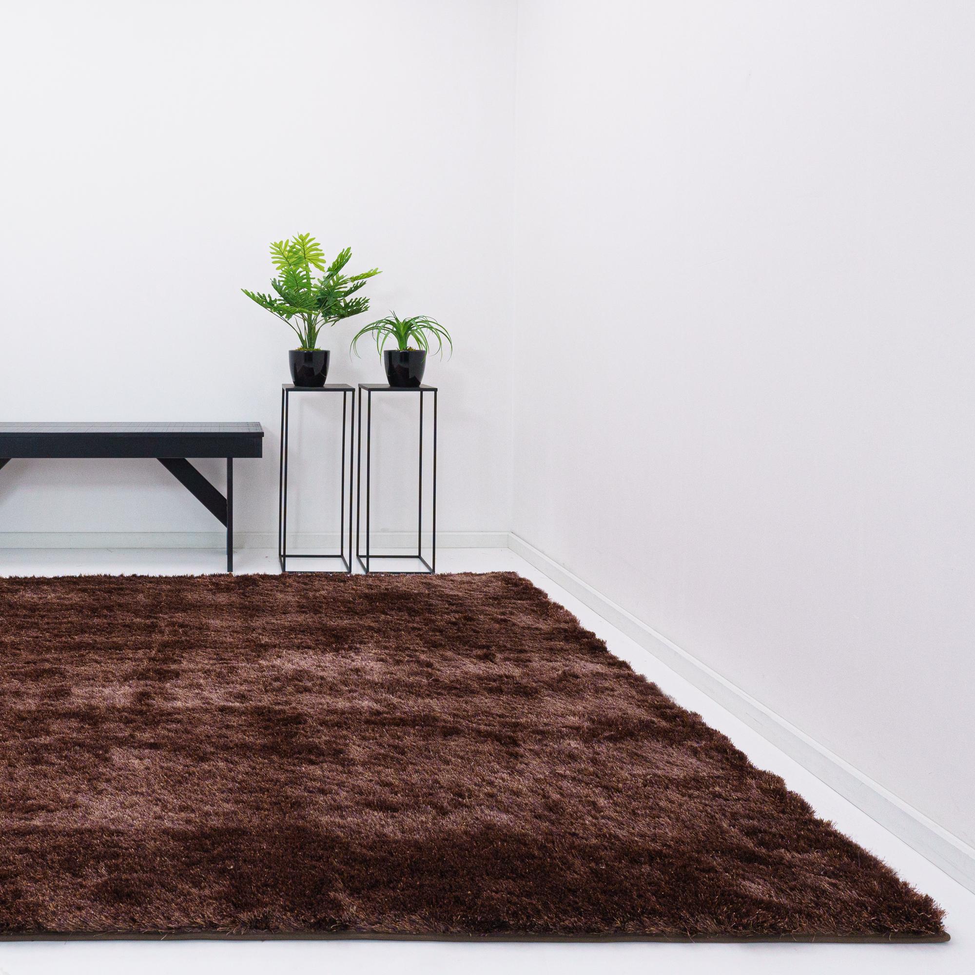 Vloerkleed Xilento Sparkle Chestnut | 170 x 230 cm