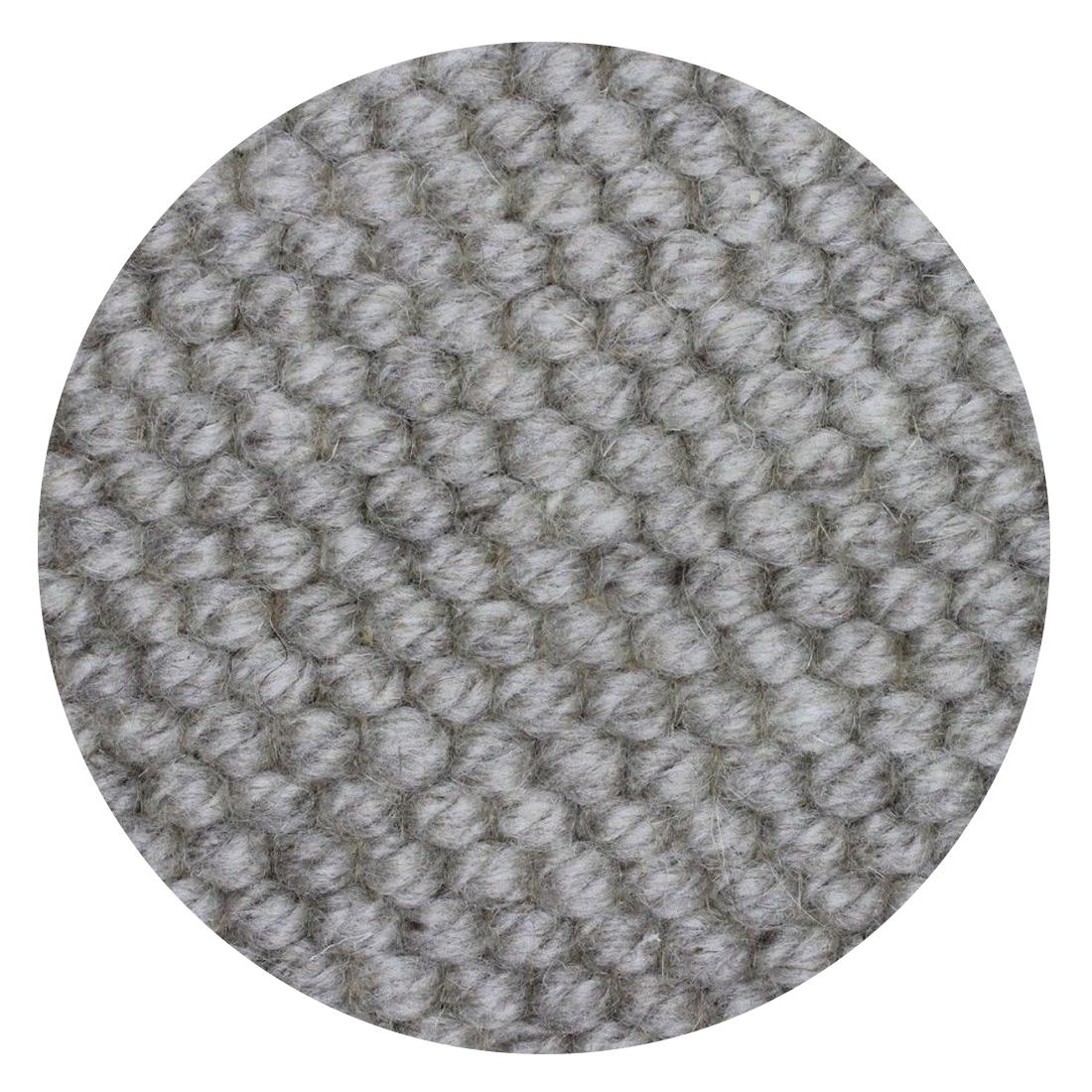 Rond Vloerkleed Nevada Grijs Beige 100 % New Zealand Wool