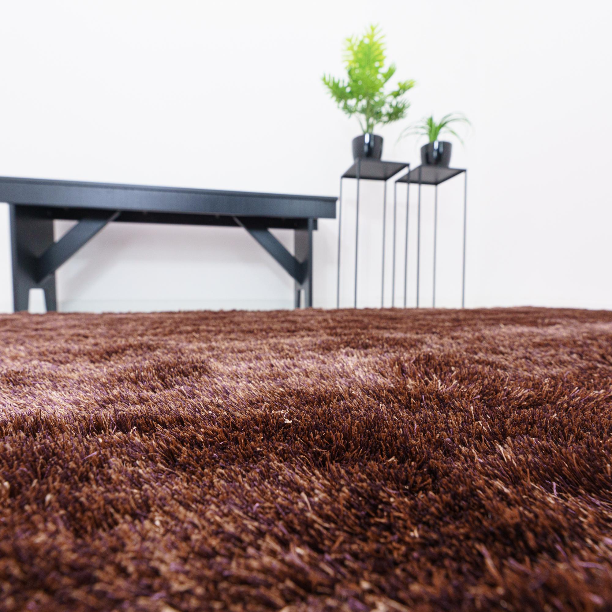 Vloerkleed Xilento Sparkle Chestnut | 200 x 300 cm