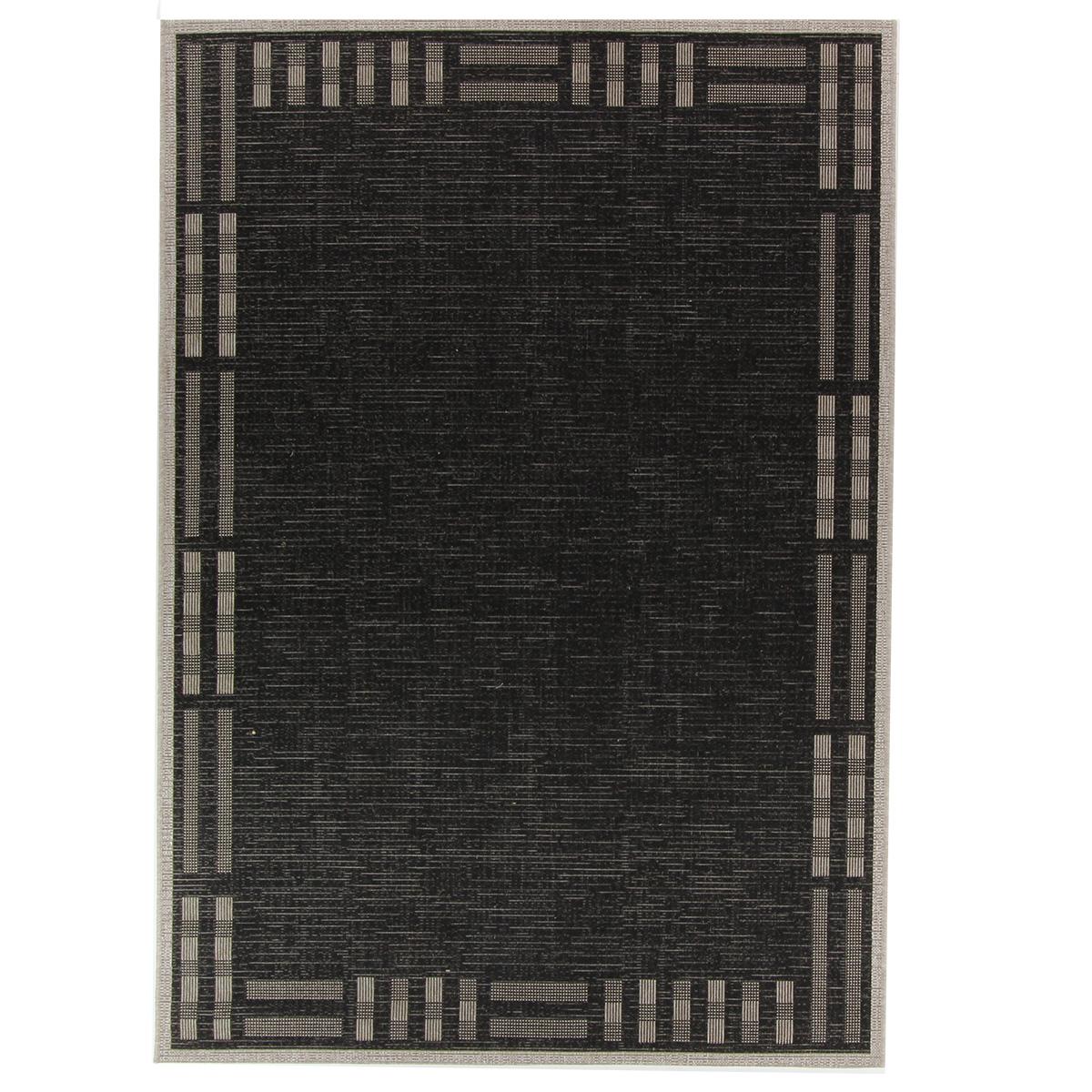 Vloerkleed Brinker Billies Black Silver | 160 x 230 cm