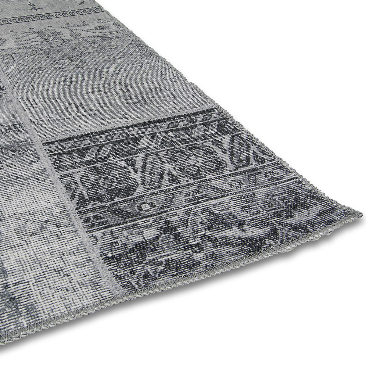 Vloerkleed Brinker Bukan Light Grey | 190 x 290 cm