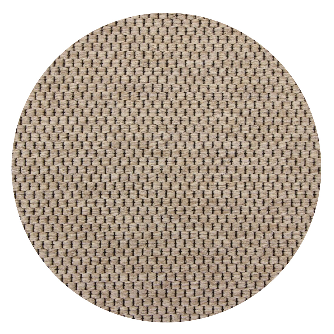 Rond Vloerkleed Casablanca Natura Geweven Light Beige