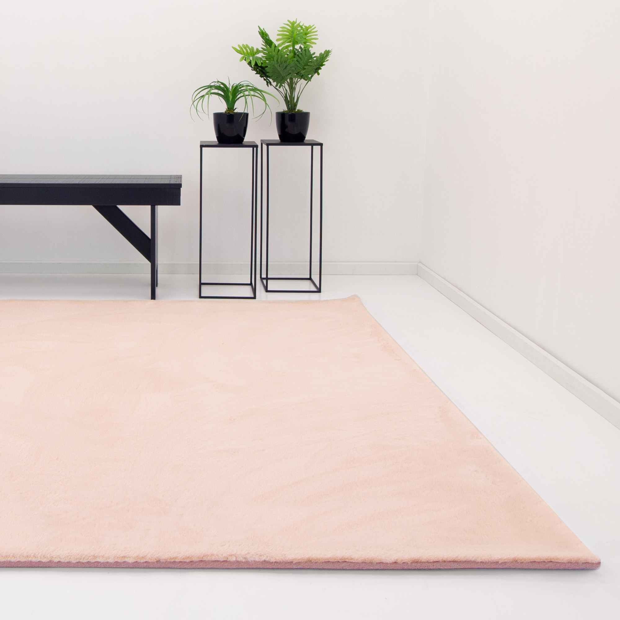 Vloerkleed Xilento Rabbit Rose | 200 x 290 cm (super soft)