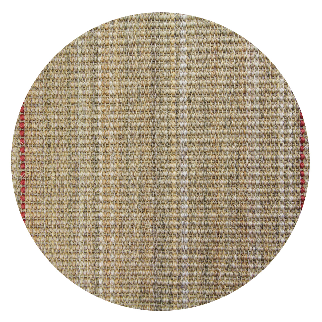 Rond Sisal Vloerkleed Lima Red Yellow