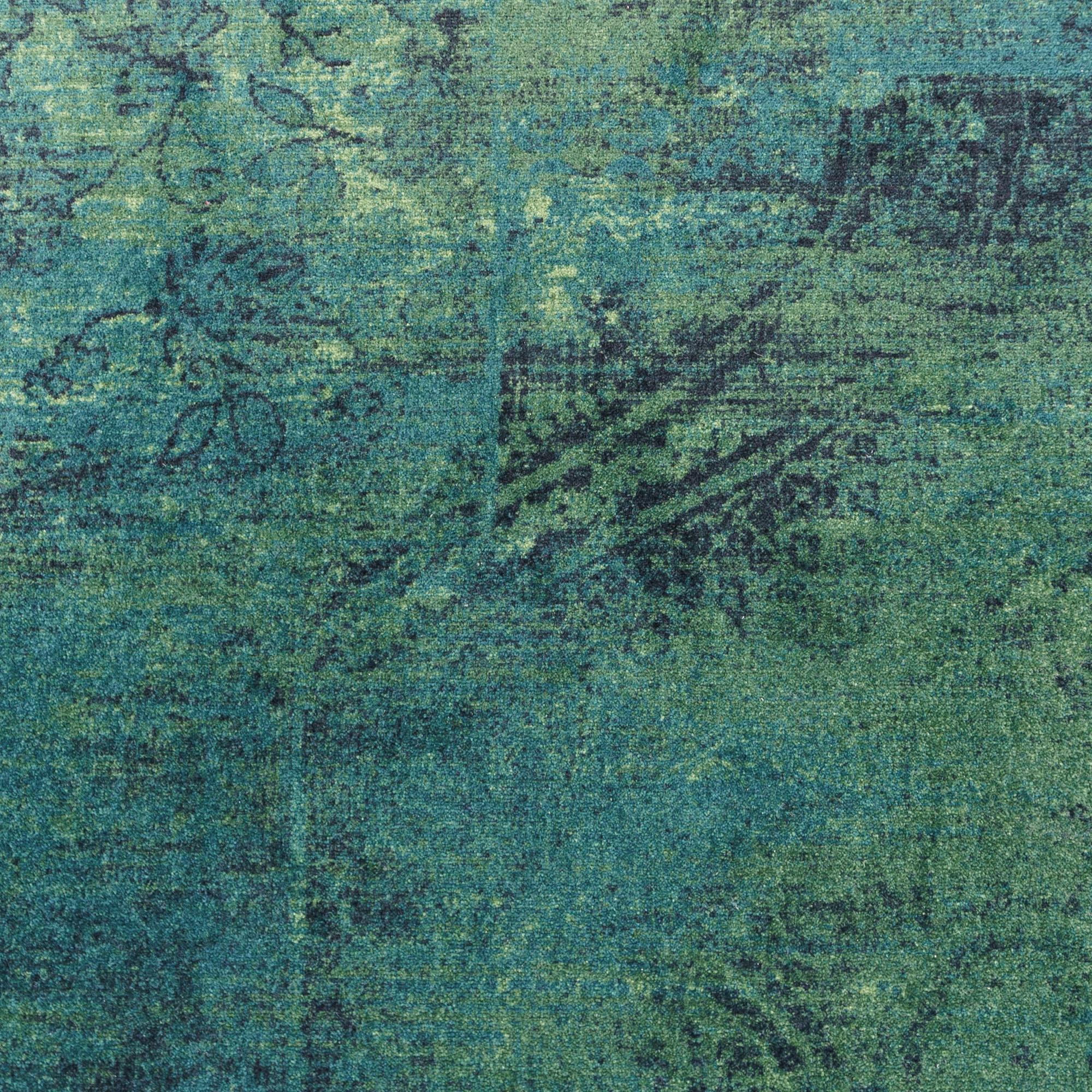 Vintage Vloerkleed Raw Donker Groen