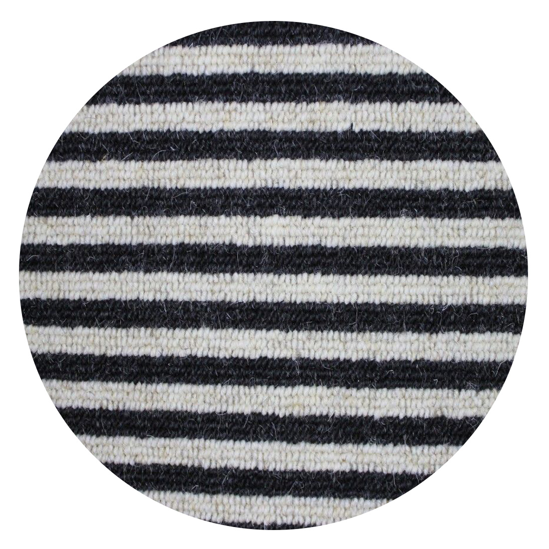 Rond Vloerkleed Boston (wol) Stripe Zebra