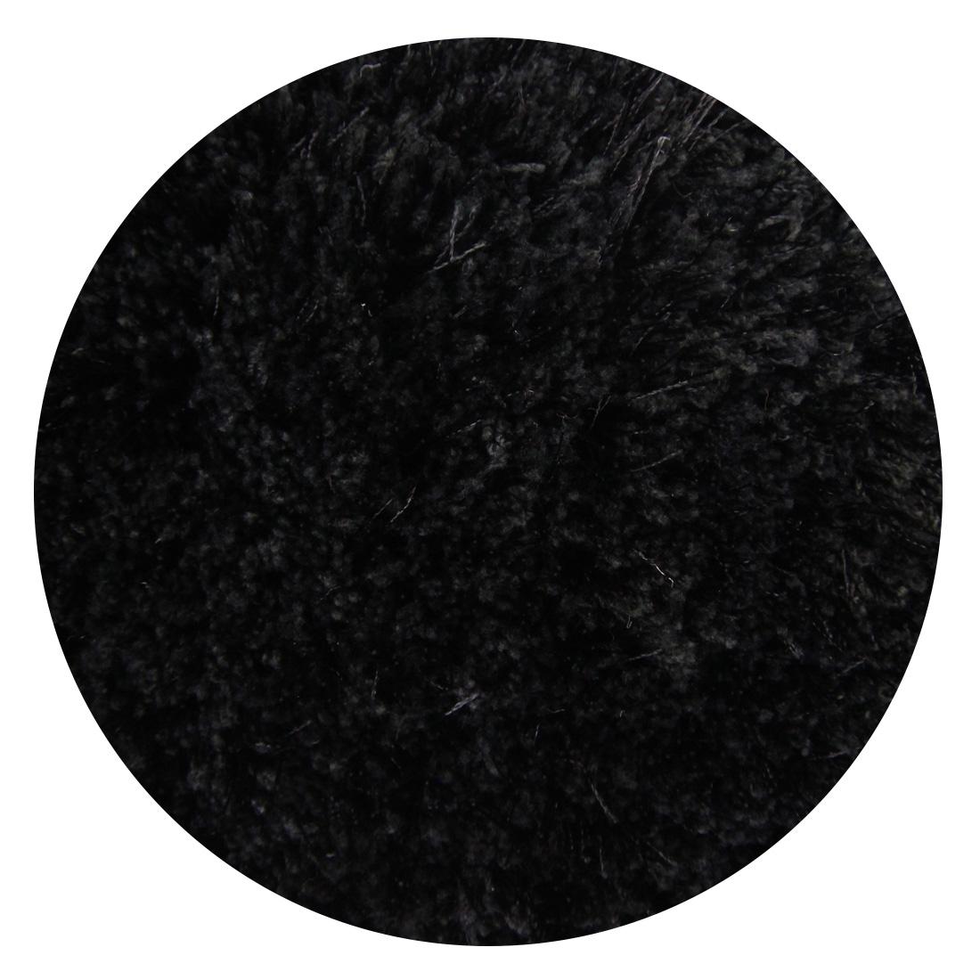 Rond Vloerkleed Xilento Velvet Zwart