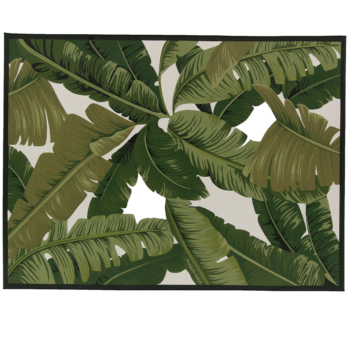 Vloerkleed Brinker Nature Leaves Black | 160 x 230 cm