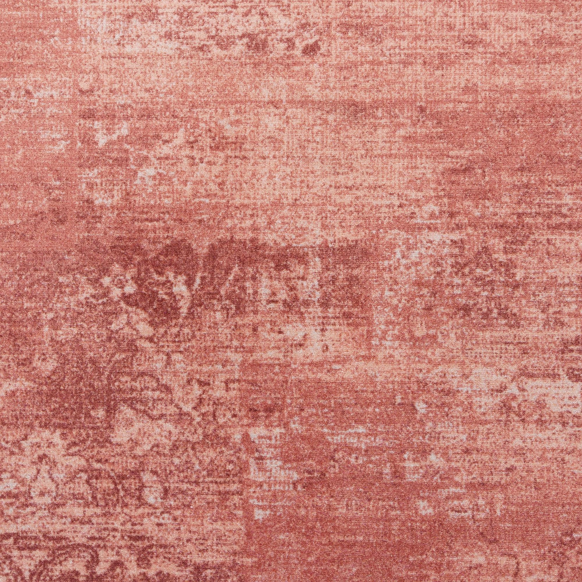 Rond Vintage Vloerkleed Raw Oud Roze