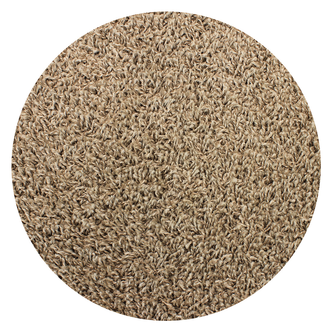 Rond Vloerkleed Houston Naturel Taupe