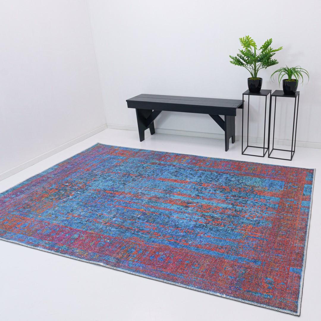 Vloerkleed Xilento Vintage Voice Blue | 150 x 225 cm