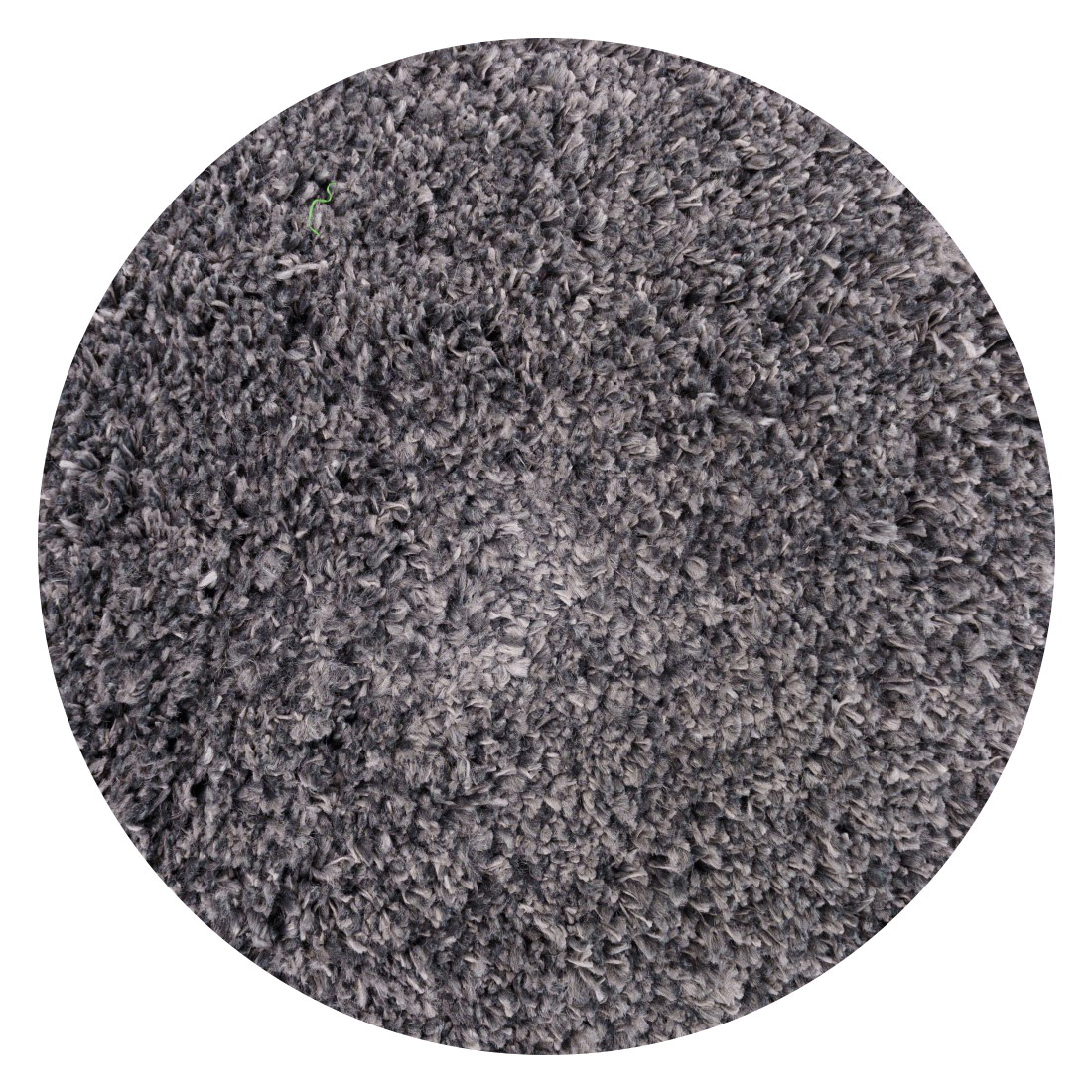 Rond Vloerkleed Xilento Plush Metal Grey