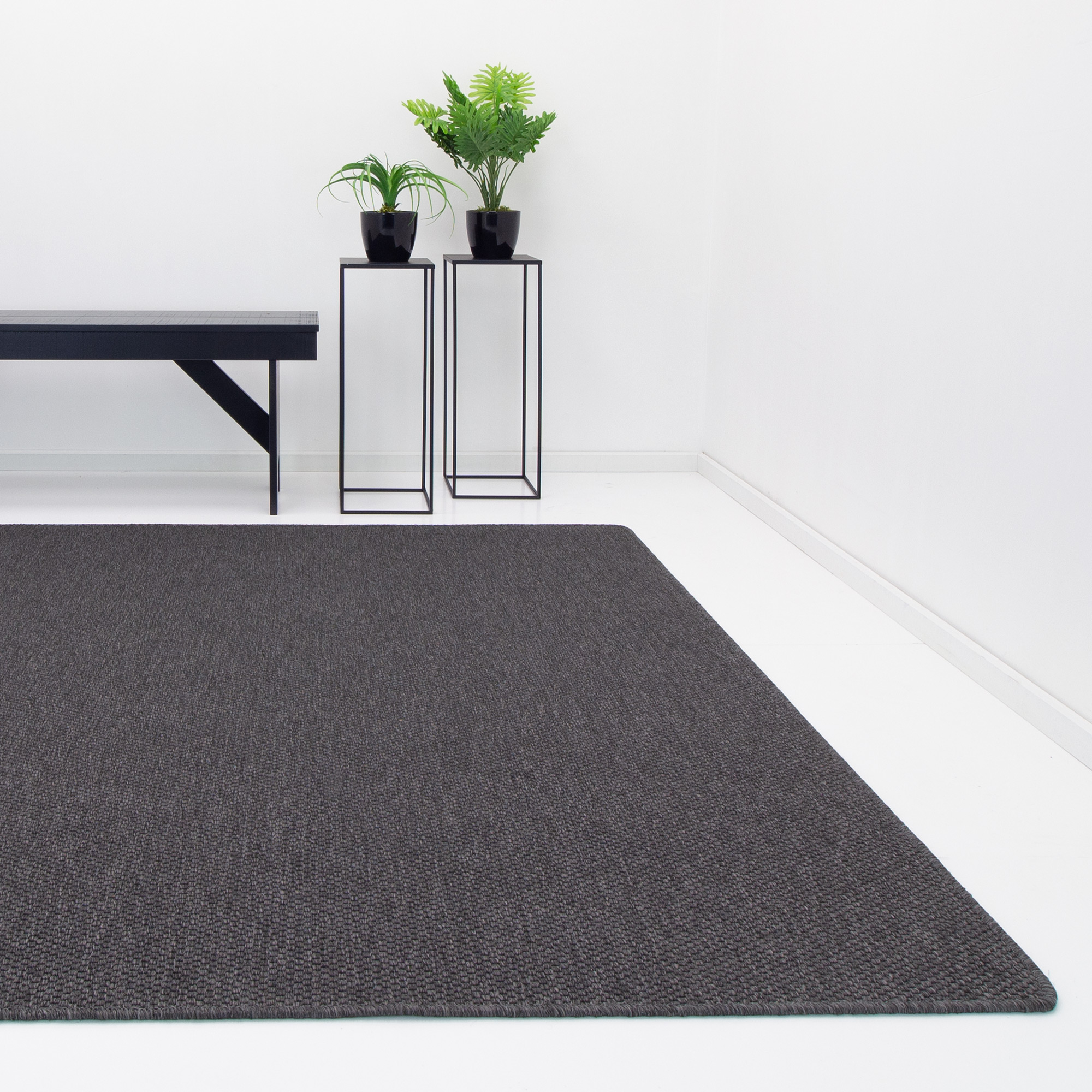 Vloerkleed Casablanca Natura Geweven Anthracite