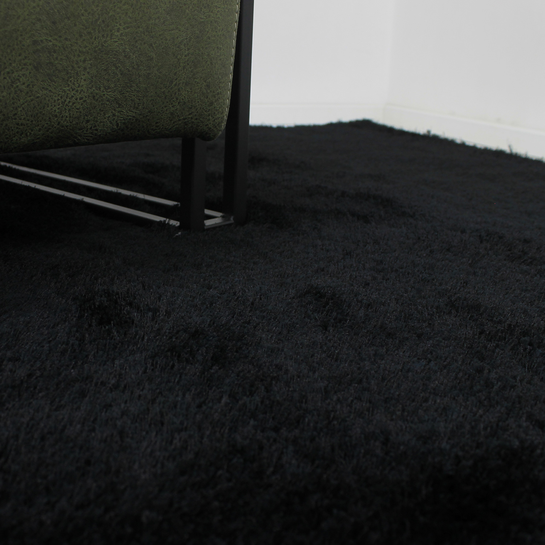 Vloerkleed Xilento Velvet Zwart