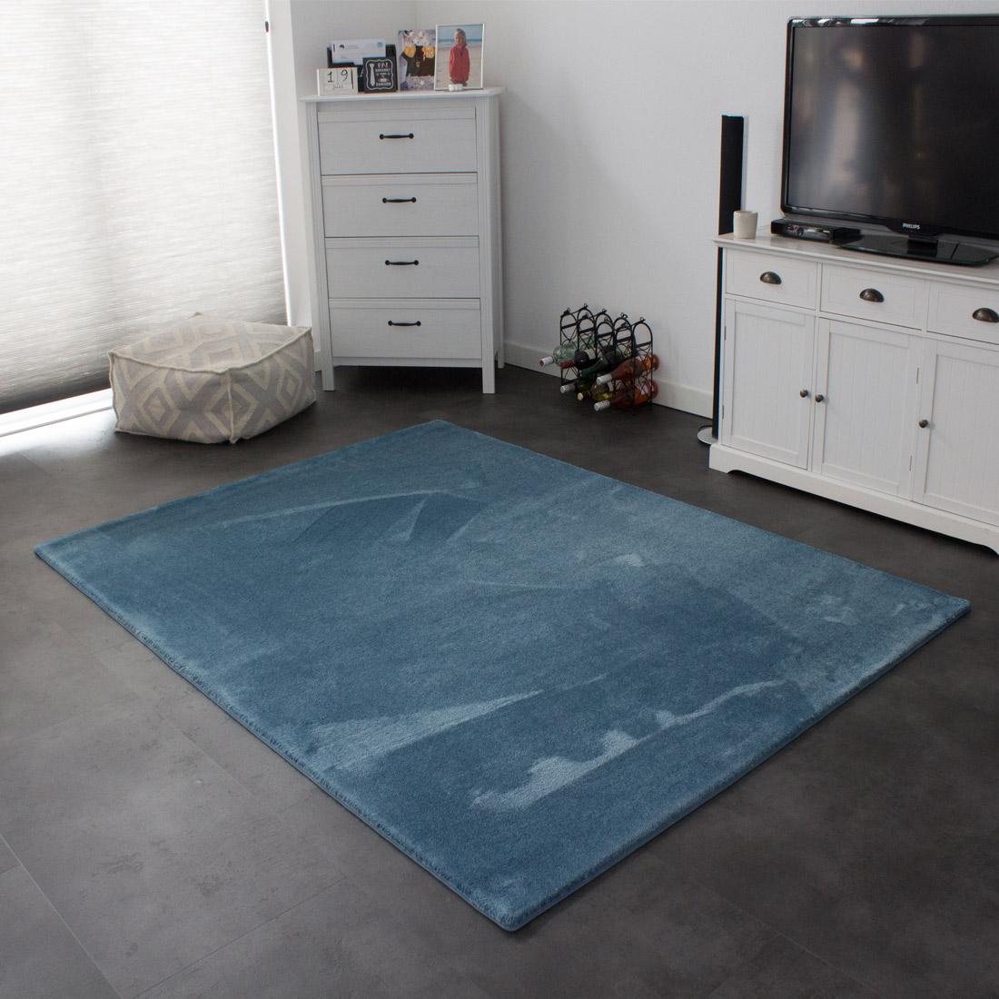 Vloerkleed Xilento Soft Azuur | 200 x 300 cm