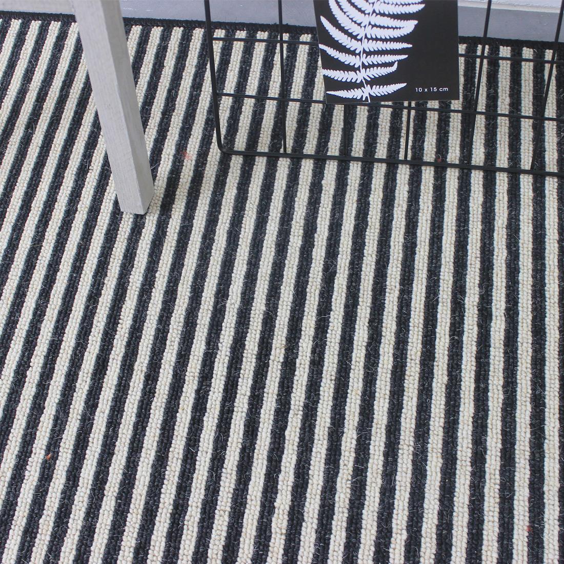 Rond Vloerkleed Boston (wol) Stripe Zebra