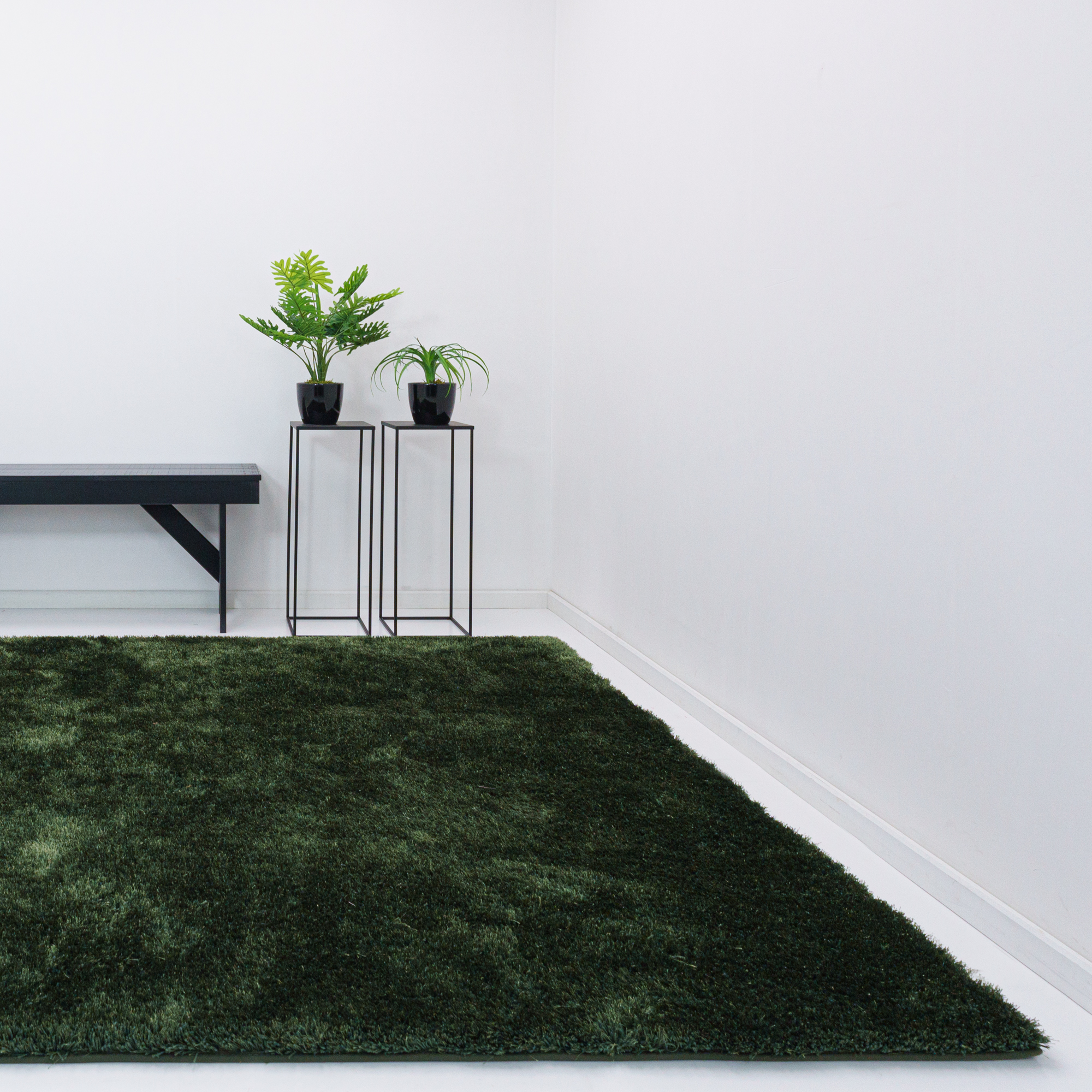 Vloerkleed Xilento Twinkle Mossgreen | 170 x 230 cm