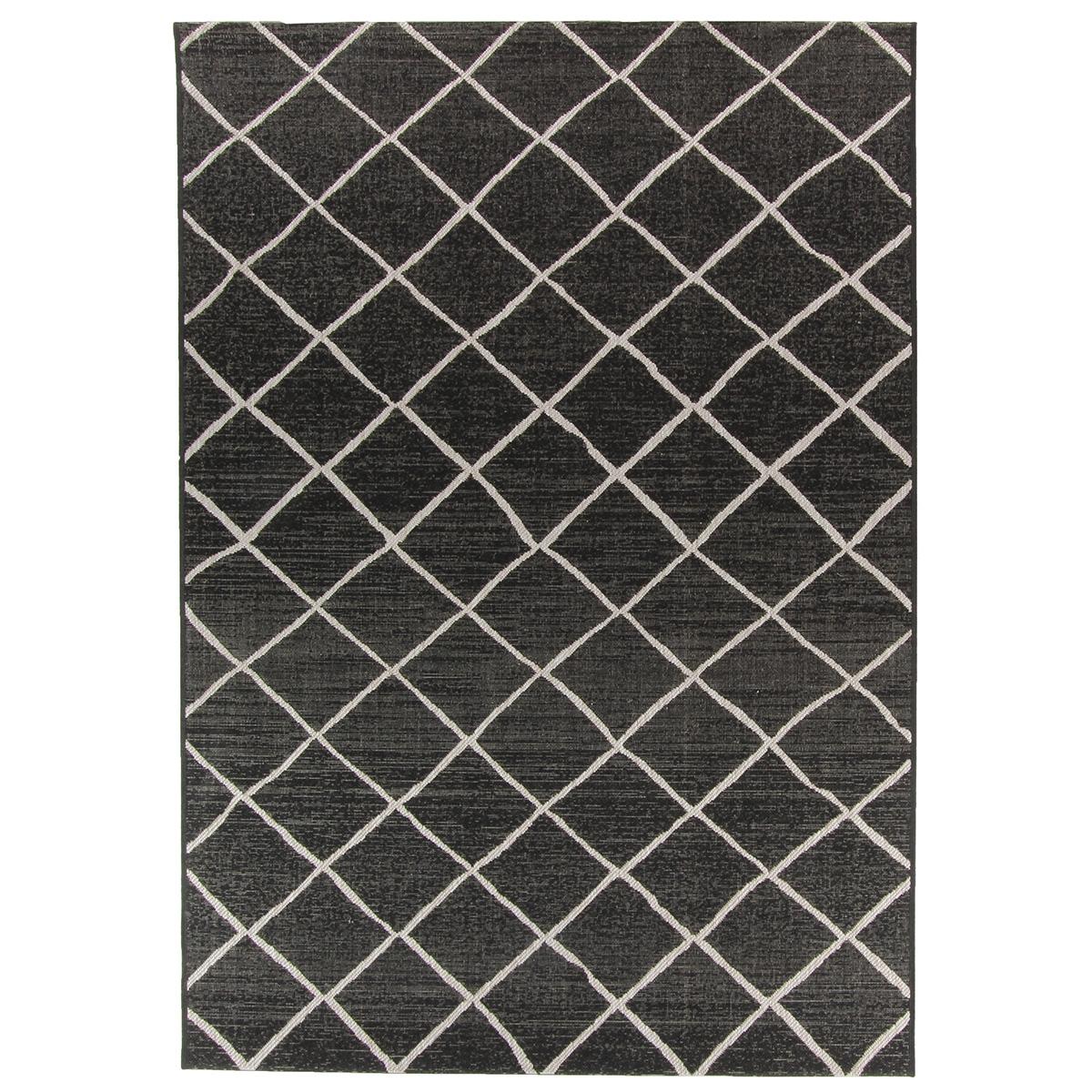 Vloerkleed Brinker Creations Black Silver | 160 x 230 cm