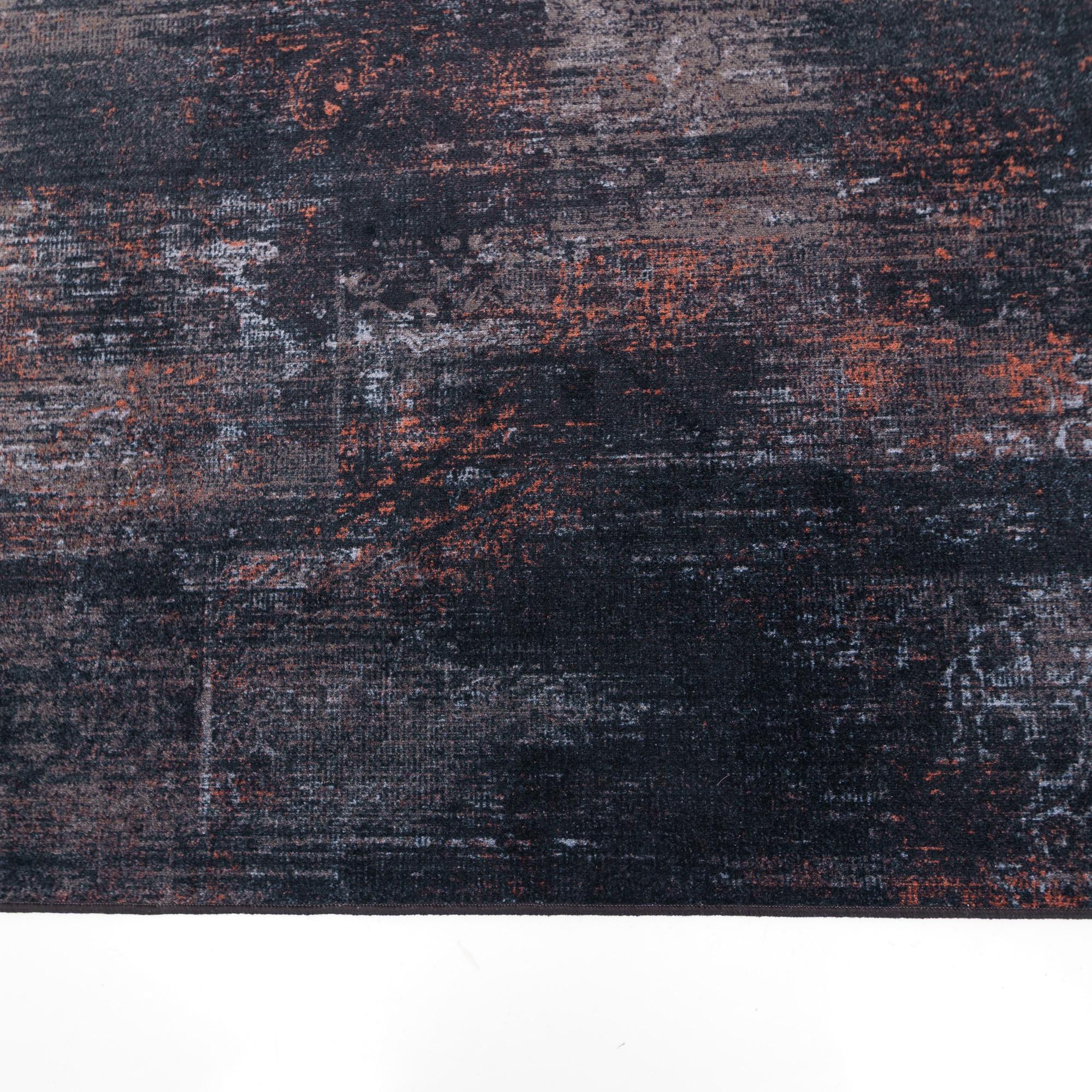 Vintage Vloerkleed Raw Zwart Terra
