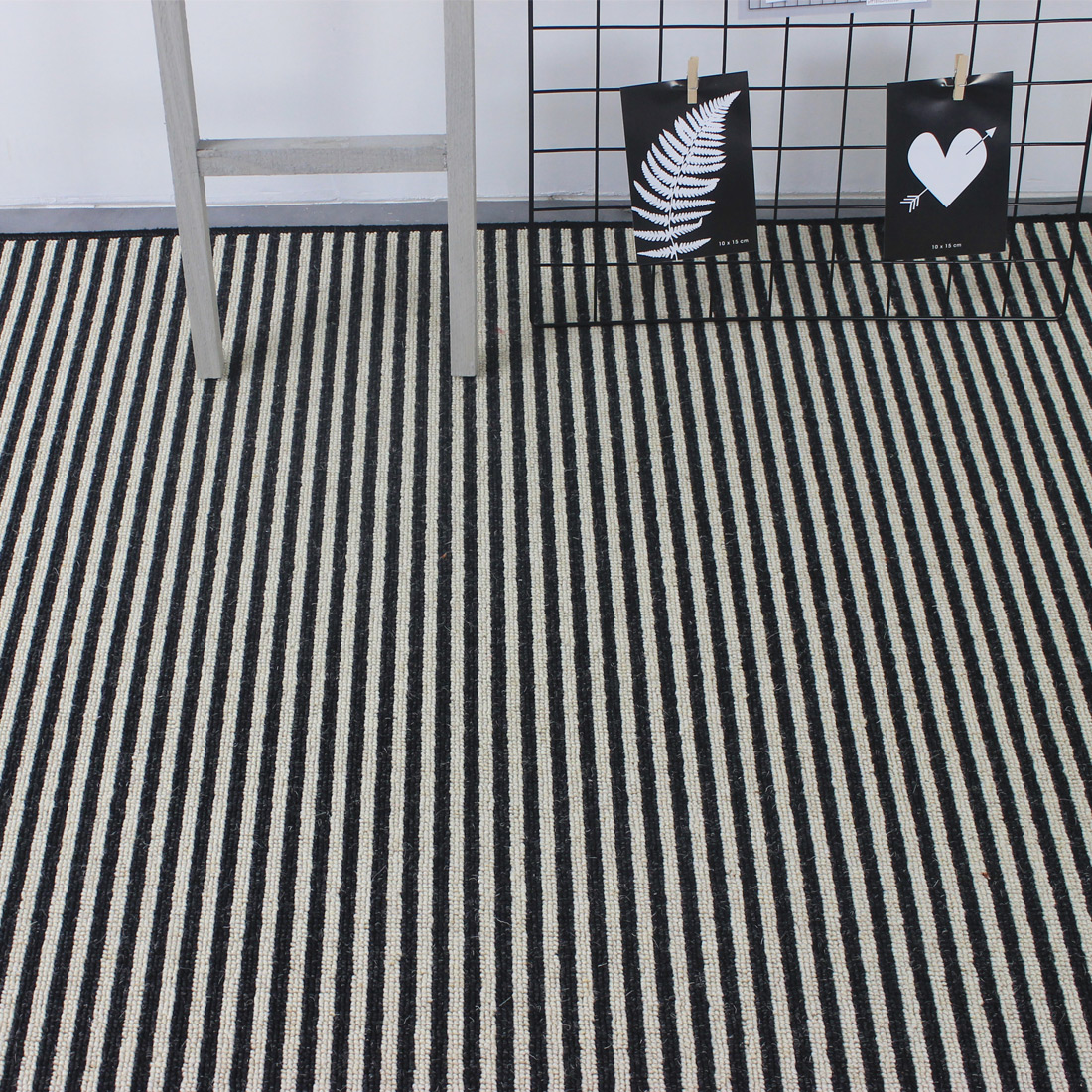 Vloerkleed Boston (wol) Stripe Zebra | 200 x 300 cm