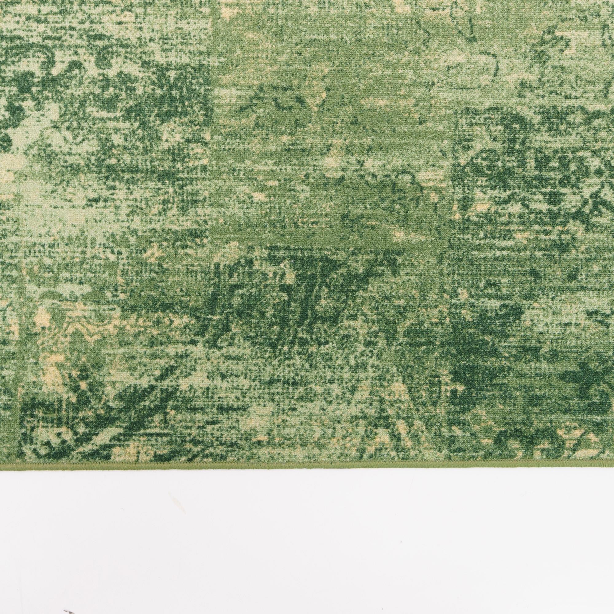 Vintage Vloerkleed Raw Licht Groen